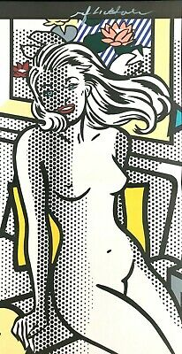 Roy Lichtenstein Hand Signed * Nude With Yellow Pillow * Print
