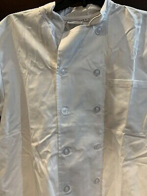 chef works shirt Size Large White