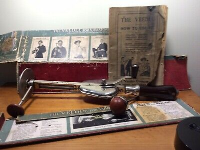 The VeeDee, Antique Medical Massager, London Early 1900's + Instruction Booklet