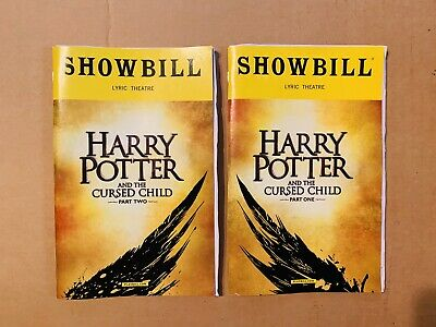 Harry Potter and the Cursed Child Part One and Two Playbills Broadway April 2018
