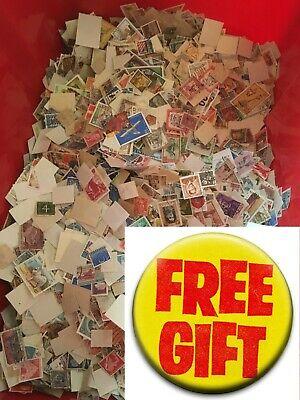 World Stamps. Off paper. 50g. FREE GIFT Approx 800 stamps, World and C/m. No GB