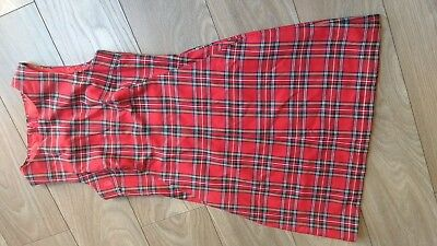 Handmade 1960s style tartan emo gothic dress. Fit 10, 34B? Silk lined