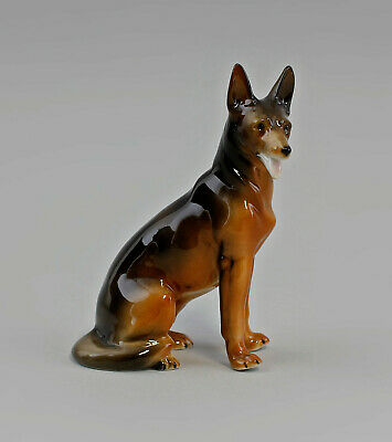 9942123-ds Porcelana Figura Perro Pastor Alemán Perro wagner&apel H15, 5cm