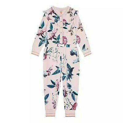 pyjamas sleepwear with sizes. Ted baker Girls Floral all in one  suit