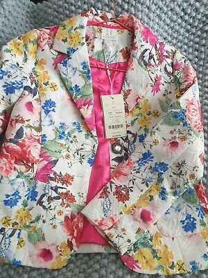 Monsoon Floral Girls Jacket, Age 11-12, BNWT, Free Delivery.