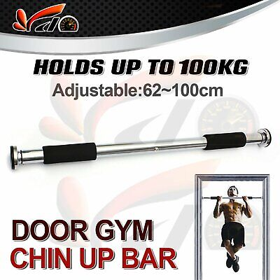 Adjustable Gym Chin Up Portable Bar Home Door Pull Up Doorway Exercise Workout
