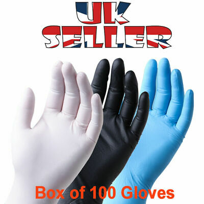 Latex & Nitrile Gloves - FULL BOX of 100 - IN STOCK NOW - FAST UK DESPATCH