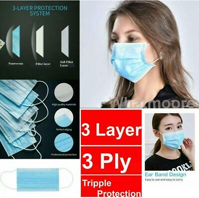 Surgical Face Mask Disposable Mouth Mask Flu Mask Anti Bacterial 3 Ply