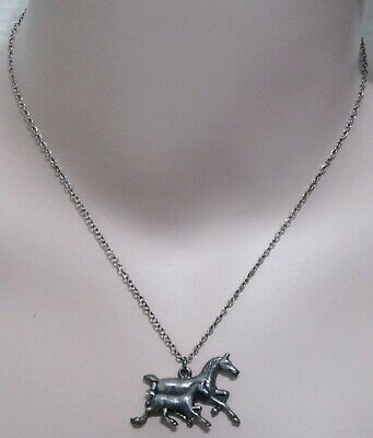 Vintage Horses Mare & Foal Necklace   S