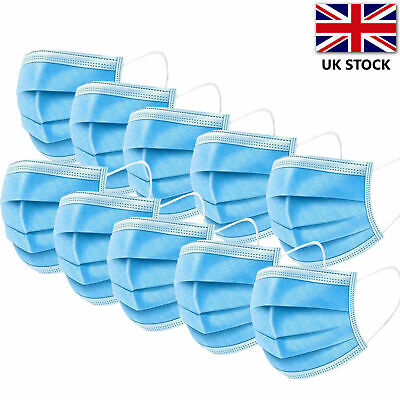10 x Premium Quality - Face, Mouth & Nose Protection Masks