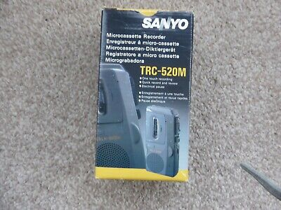 SANYO Talk Book TRC-520M Micro Cassette Voice Dictaphone Recorder - Working