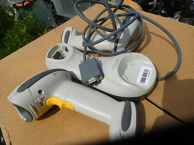 Lot of 2 Symbol LS4278  Barcode Scanner w/ STB4278 one Cradle untested as is