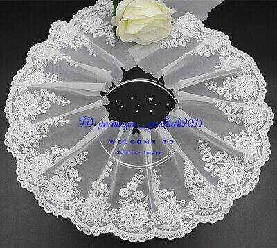 Floral Tulle Lace Trim Ribbon Embroidery Wedding Fabric Dress decor Sewing FL253