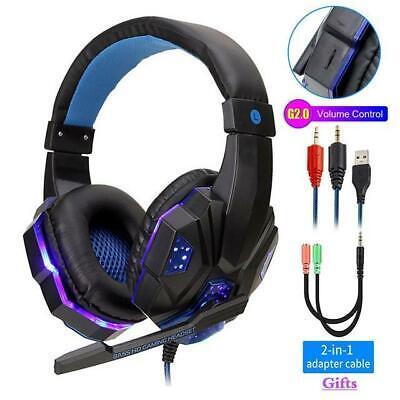 Headphones for PS4 Xbox Nintendo Switch PC 3.5mm STEREO Mic LED Gaming Headset