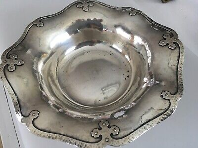 Arts And Crafts VOSS & RICH HAND WROUGHT Sterling silver bowl 1900s Oakland CA