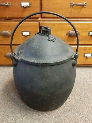 Antique cast iron pressure cooker A. Kendrick & Sons 4 gallon digester