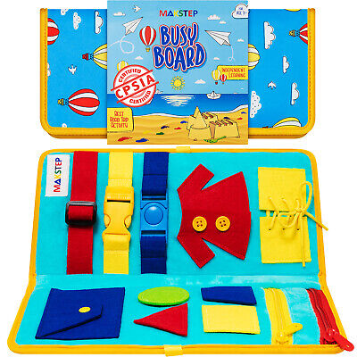 Montessori Educational Toy. Learning Busy Board for Toddlers. Homeschool, Gift