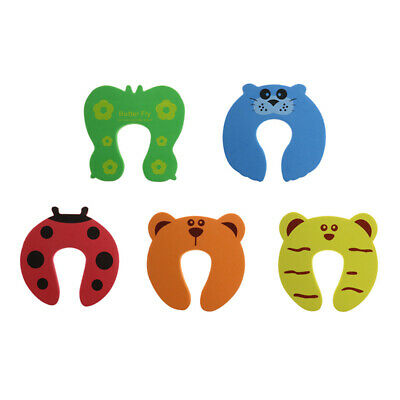 10pcs Children Baby Safety Cartoon Door Stopper Clip Clamp Pinch Hand Security