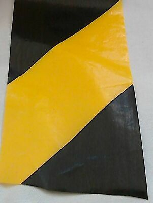 Barrier Tape Hazard Warning Non Adhesive Black & Yellow 50mm Flat Packed 4-20m