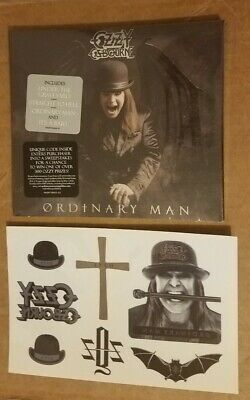 Ozzy Osbourne Ordinary Man Cd Sealed & Promo Tattoo Set * All My Life * Bat Dove