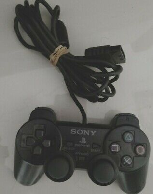 Genuine SONY Playstation Dual Shock Controller - black - ps1 psx ps2