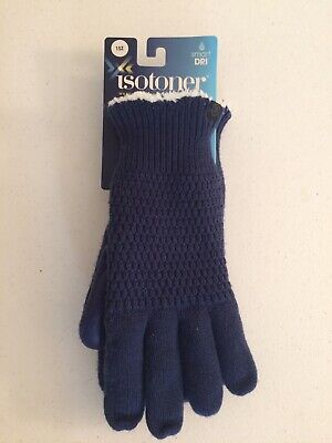 Womens Isotoner SmartDri Smartouch Touch Screen Technology One Size Gloves New