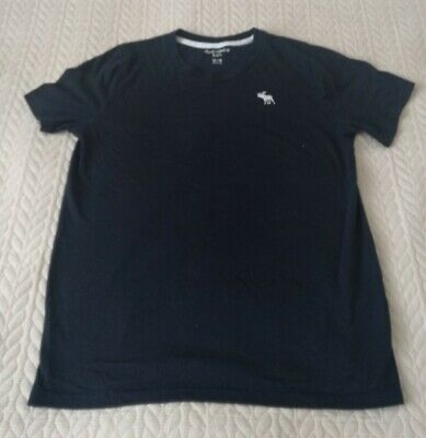 Abercrombie Kids Boys Girls Navy Short Sleeve Crew Tshirt Age 13/14 Years
