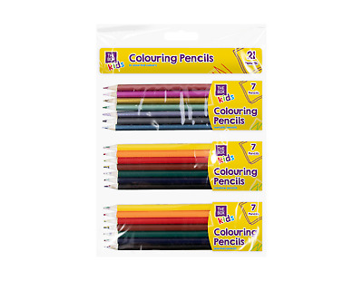 21x Coloured Drawing Pencils - Assorted Pack with Multicoloured, Scented, Metall