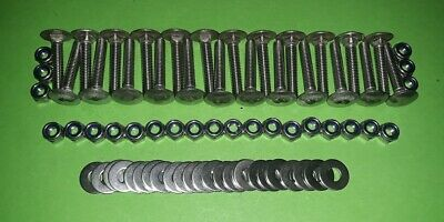 24 Stainless M6 Coach Bolts For Wooden Bench Seat / Classic Car Roof Rack Slats