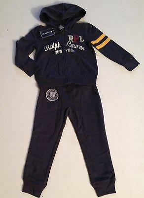 Ralph Lauren Girls Navy Tracksuit Age 2, 3, 5 Rrp £120 Now £45.50 Each