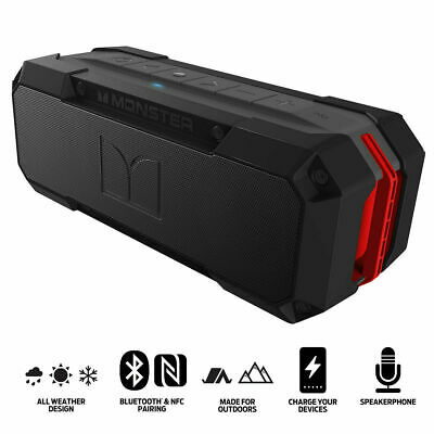 Monster Adventurer Weatherproof Bluetooth Speaker Brand New