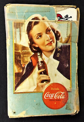Coca Cola 1943 WW II Playing Cards w Nurse Image & Airplane Spotter Cards
