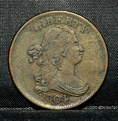 1804 Draped Bust Half-Cent ✪ Xf Extra Fine ✪ 1/2C Crosslet 4 W/ Stems ◢Trusted◣