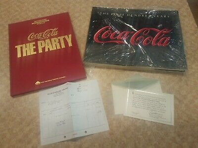 1986 Coca-cola The First 100 Years Hardcover Book + The Party 2 books 1 price!
