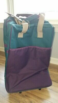 """Duffle Bag 20"""" Rolling Trolley Bag Tote Carry On Luggage Wheeled Travel Suitcase"""