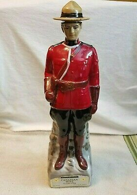 Vintage Canadian Mist Mounted Police Mountie Nelson Eddy Decanter Ceramic