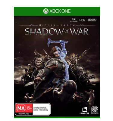 Middle Earth Shadow of War -  Microsoft Xbox One Game - Brand New
