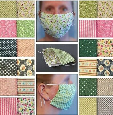 Reversible Fitted Cotton Face Mask; Filter;Washable;Reusable;Adjustable; UK Made
