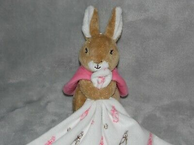 M&S Flopsy Bunny Comforter Soft Toy White Rabbit Blankie Marks And Spencer