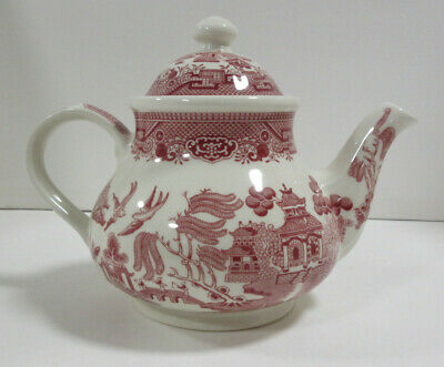 """Churchill Large Red Willow Tea Pot (Made in England) Size: 7.5"""" Tall"""