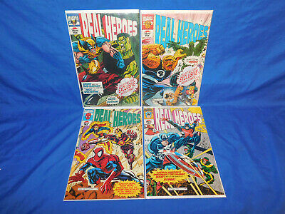 Marvel Real Heros 1 2 3 4 Plus Sticker Set & Activity Book From Pizza Hut 1994