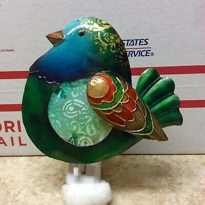 Metal Bird Night Light -DecoFLAIR - Colorful - Beautiful - Preowned - Excellent