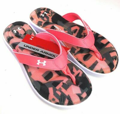 Under Armour Marbella Alpha VI Girls' Kids Sandals Slip On Size 1Y