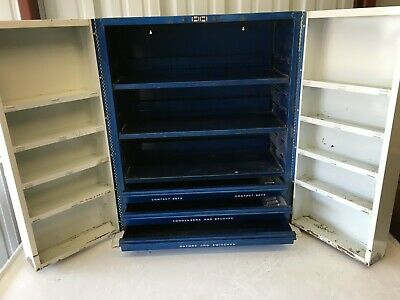 Vintage Wall Mounting Mechanic Garage Service Station United Delco Shop Cabinet