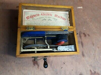 Rare Antique Medical Magneto Electric shock Therapy Machine.