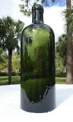 Tumbled - Circa 1870'S Antique Blob Top Mineral Water Bottle!  Heavily Whittled!