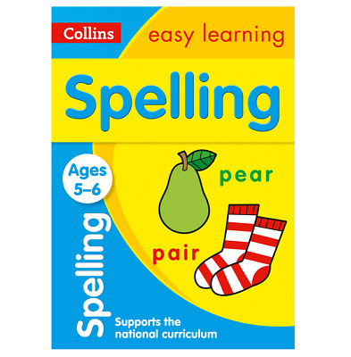 Child Spelling Workbook Learning Childrens Kids Spelling Practice Activity Book