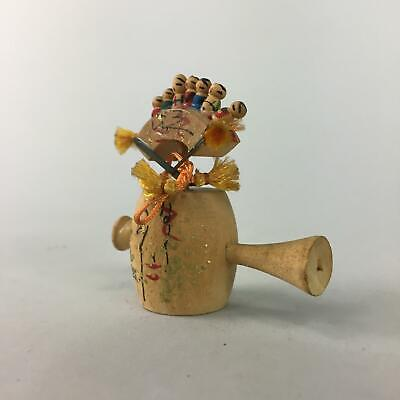 Japanese Kokeshi Ornament Vtg Wood Carving Figurine Mini Kokeshis Kourankei KF51