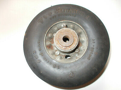 Vintage New NOS Piper Cub Aircraft Military 6X2 Tail Tire & Wheel WW2 War Plane