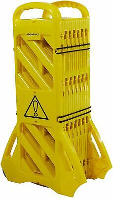 Expandable Mobile Barricade Fence Safety System Yellow, 13 Feet